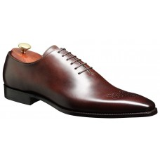 Barker Oxford Brogue Wholecut Style Mozart Dark Brown Shadow Calf Mens Shoes (Size 08)
