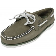Timberland Classic 2 Eye Mens Green Boat Deck Shoe