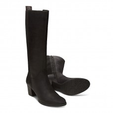 Timberland Eleonor Street Tall Ladies Jet Black Leather Boots