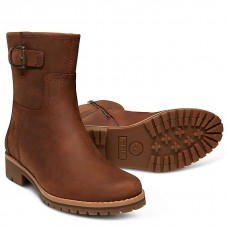 Timberland Main Hill Ladies Brown Full Grain Leather Biker Boot