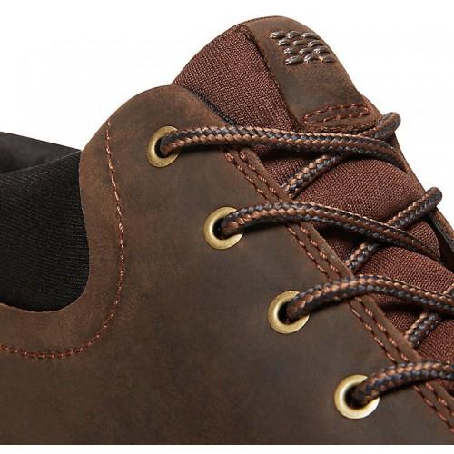 da38b388157e Timberland Cross Mark GTX Gore-Tex Chukka Dark Brown Leather Mens Boots