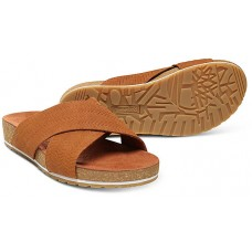 Timberland Malibu Waves Slide Rust Embossed Suede Leather Ladies Sandals