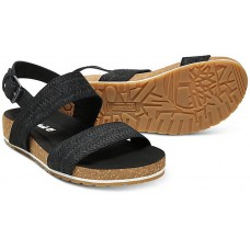 Timberland Malibu Waves Black Embossed Suede Leather Ladies Sandals