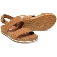 Timberland Malibu Waves Rust Embossed Suede Leather Ladies Sandals
