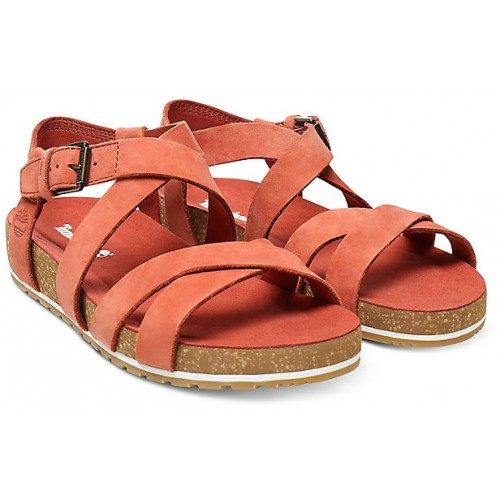 dbf40c35fb3 Timberland Malibu Waves Rust Nubuck Leather Ladies Sandals