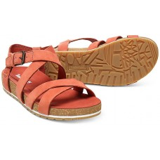Timberland Malibu Waves Rust Nubuck Leather Ladies Sandals