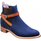 Barker Alexandra Chelsea Boot Style Navy Suede Womens Boots