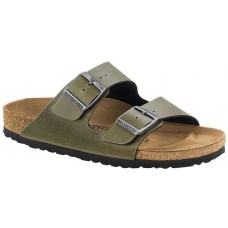 Birkenstock Arizona Ladies Olive Birko Flor Sandals Narrow