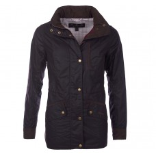 Barbour Jacket Waxed Badminton Rustic