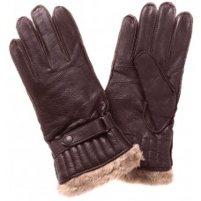 Barbour Gloves Leather Utility Brown