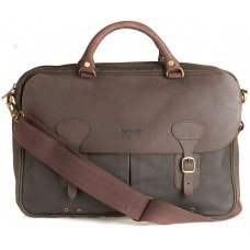 Barbour Bag Wax Leather Briefcase Olive