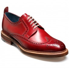 Barker Bailey Derby Brogue Wingtip Style Red Calf Mens Shoes