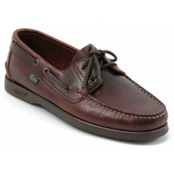 Paraboot Barth/Marine Marron Maroon Mens Leather Boat Shoes