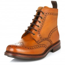 Loake Brogue Boot Style Bedale Tan Men's Leather Brogue Boots