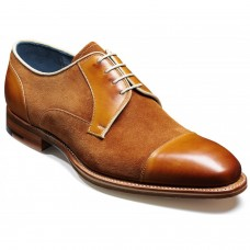 Barker Butler Derby Style Suede Cedar Camel Leather Shoes