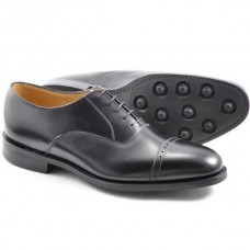 Loake Oxford Style Brogue Cadogan Black Rubber Sole Mens Shoes