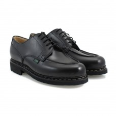 Paraboot Chambord Black Mens Leather Lace Up Shoes