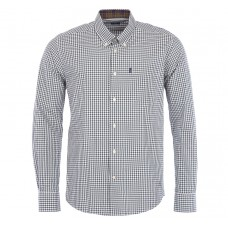 Barbour Shirt Country Gingham Olive Mens