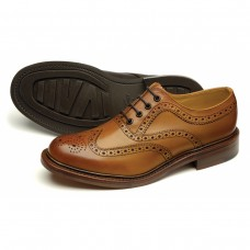 Loake Brogue Style Edward Tan Leather Shoes