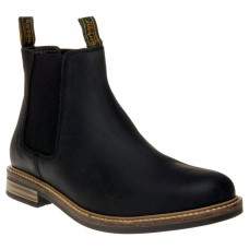 Barbour Farsley Chelsea Boot Style Black Leather Mens Shoes