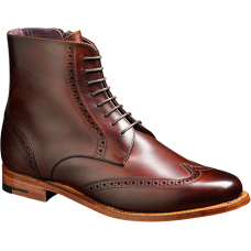 Barker Brogue Boot Style Faye Walnut Calf Wingtip Ladies Boots