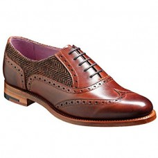 Barker Freya Walnut / Brown Tweed Ladies Shoes
