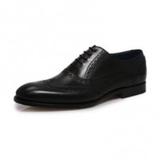 Barker Grant Oxford Brogue Style Black Mens Shoes