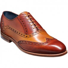 Barker Grant Rosewood / Cedar Calf Lace Up Brogue Shoes (10)