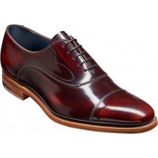 Barker Oxford Style Hartley Brandy Hi-Shine Mens Leather Shoes (09½)
