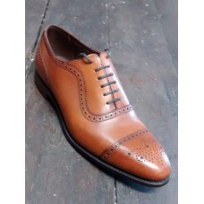 Barker Oxford Brogue Brown Mens Shoes (12)