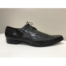 Barker Derby Pointy Toe Style Dark Brown Mens Shoes (12)