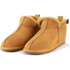 Shepherd Annie Mustard Sheepskin Leather Womens Slippers