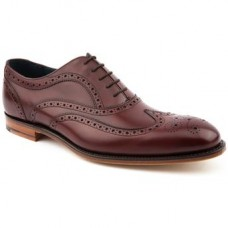 Barker Oxford Style Brogue Jensen Cherry Calf Leather Sole Mens Shoes