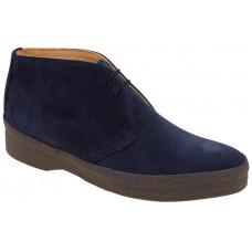Sanders Joel Hi Top Navy Blue Suede Chukka Boots (07)