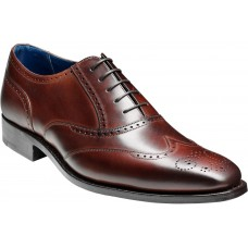 Barker Oxford Wingtip Style Johnny Dark Brown Calf Mens Leaher Shoes (09)