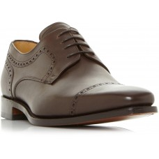 Barker Leo Derby Style Dark Brown Calf Mens Lace Up Shoes