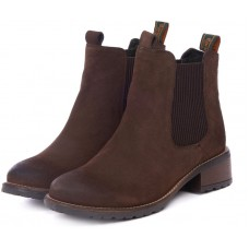 Barbour Latimer Brown Waxy Ladies Chelsea Boots