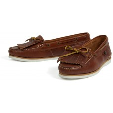 Barbour Ellen Moccasin Style Cognac Leather Ladies Boat Shoes
