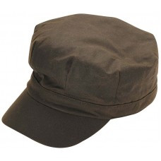 Barbour Hat Mens Wax Baker Boy Olive Cap
