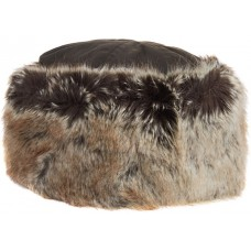 Barbour Hat Ambush Ladies Faux Fur Waxed Cotton Olive Hat