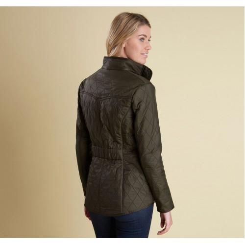 Barbour Jacket Cavalry Polarquilt Ladies Dark Olive
