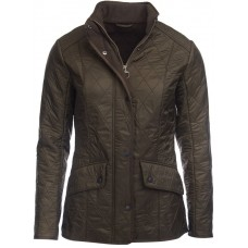 Barbour Jacket Cavalry Polarquilt Ladies Dark Olive