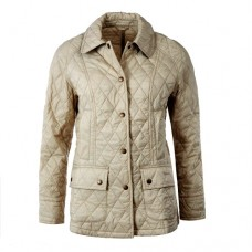 Barbour Jacket Ladies Summer Beadnell Quilt Light Taupe