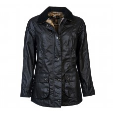Barbour Jacket Waxed Beadnell Ladies Navy