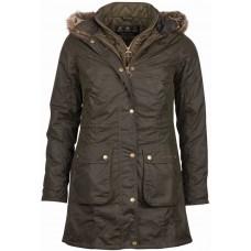 Barbour Jacket Ladies Helsby Parka Olive Wax Jacket