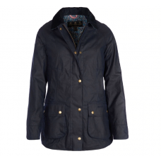 Barbour Jacket Abbey Waxed Ladies Navy