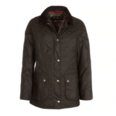 Barbour Jacket Abbey Waxed Ladies Olive