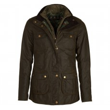 Barbour Jacket Chaffinch Ladies Waxed Olive