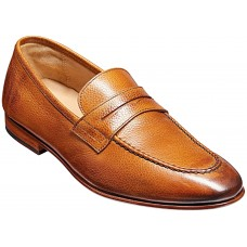 Barker Ledley Apron Loafer Style Cedar Grain Mens Shoes (Size 09)