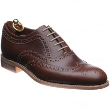 Loake Brogue Style Fearnley Mens Brown Shoes (08½)